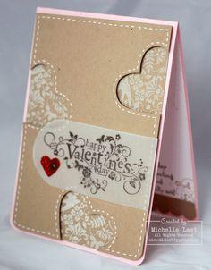 This is gorgeous! Love the big valentines vellum sentiment. @Michelle Flynn Last