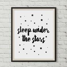 Sleep under the stars Sleep wall Art Sleep Printable by PxlNest