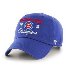 f2cc7d114ba Men s Chicago Cubs  47 Royal 2016 National League Champions Clean-Up  Adjustable Hat