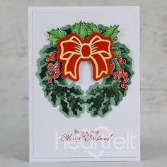 Very Merry Christmas, Heartfelt Creations, Holiday Cards, Christmas Cards, Christmas Wreaths, Christmas Inspiration, Poinsettia, Greeting Cards Handmade, Cardmaking
