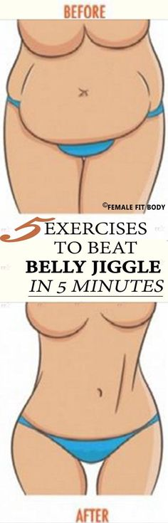 Without a single sit-up! 5 Exercises to Beat Belly Jiggle in 5 Minutes