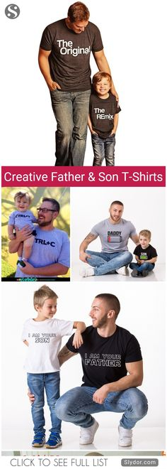 Most Creative Father And Son T-Shirts You Will Ever See#tshirt #design #creative #beauty #art #family #fun #funny