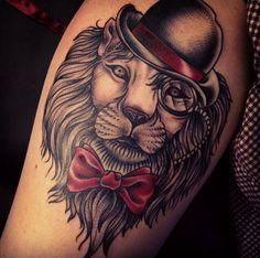 #lion #tophat #bowtie