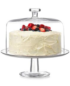 The Cellar Cake Dome & Stand, Created for Macy's - Serveware - Dining & Entertaining - Macy's Cake Stand With Dome, Cake Dome, Kitchen Essentials List, Fiesta Theme Party, Cake Mix Recipes, Cupcakes, Home Decor Kitchen, Kitchen Stuff, Cake Plates