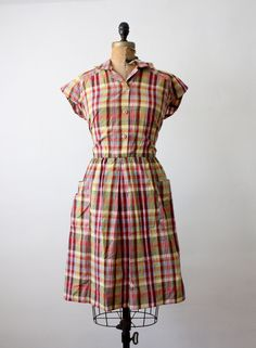 1960's plaid day dress