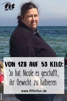 75 Kilo abnehmen! Nicole hat es aus eigener Kraft heraus geschafft, ihr Körpergewicht zu halbieren. Wie ihr das gelungen ist, und wie auch du deine persönlichen Ziele erreichen kannst, erfährst du hier. #abnehmen #vorhernachher #Diät #Erfolgsstory #VorherNachherVergleich #fatburning