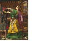 via Birmingham Museums @BM_AG  Morgan-le-Fay By Frederick Sandys. @Paris_Sorbonne researchers are doing non-invasive chemical analyses on it this wk