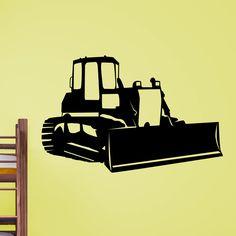 Awesome Bulldozer v2 Wall Sticker