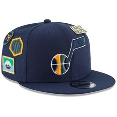 promo code 4cc02 311ed New Era Utah Jazz On-Court Collection Fitted Cap - Blue 7. NBA Caps   Hats