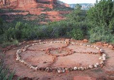 Medicine Wheel Sedona, AZ- Medicine Wheel Sedona, AZ. We went to sedona 2011 and seen where this medicine wheel was located. Residence complained that it was pegan and somehow got it removed. Because there is still no freedom of religion for Natives they keep other medicine wheels (there church) in secret. My comment;  Unfortunately ignorance, illiterate, stupidity, racist still govern 21st century ... what a shame - LG