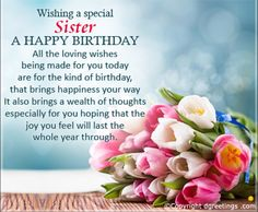 Happy Birthday Sister Msg For Wishes Greetings