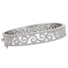 Designer Scrolled Cubic Zirconia Bracelet $550