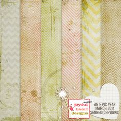 An Epic Year: Mar. 2014 {stained chevrons} :: Papers :: Memory Scraps