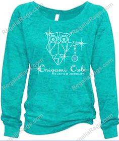 Origami Owl Locket sweatshirt. Oh just loving these SeaGlass color sweatshirts... lots of beautiful, sparkly #RhinestoneLogos being applied to these gorgeous sweatshirts. Love this color?  FIFTEEN Sweatshirt colors available!!  Bulk / Team / Wholesale discounts available. Visit our website to have your logo converted to sparkly Rhinestones!