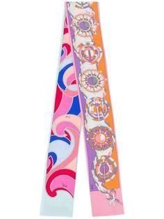 Emilio Pucci Quirimbas Print Twilly Scarf - Farfetch Emilio Pucci, Edge Logo, All Tied Up, Accessories Shop, Graphic Prints, Designing Women, Silk, Fashion Design, High Definition
