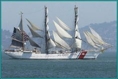 U.S. Coast Guard 3-Masted Tall Ship...