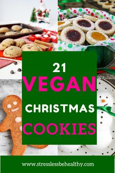 These are the best vegan christmas cookies recipes for kids all pulled into one post! Easy and healthy, some are even gluten free. Find gingerbread, sugar cookies, peanut butter blossoms, and more! Chocolate Christmas Cookies, Vegan Christmas Cookies, Christmas Recipes, Cookie Recipes For Kids, Cookies For Kids, Icebox Cookies, Icebox Cake, Healthy Vegan Desserts, Vegan Recipes