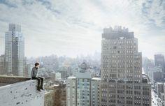 David Karp overlooking Manhattan. Photo by Chris Crisman
