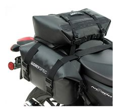 The DrySpec D68 includes one D20 saddlebag set and one D28 dry bag to create 68 liters of 100% waterproof storage.