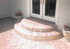 Concrete stairs outdoor brick patios 61 New Ideas Patio Steps, Brick Steps, Garden Steps, Brick Walkway, Backyard Fireplace, Backyard Patio, Backyard Landscaping, Patio Bench, Concrete Stairs