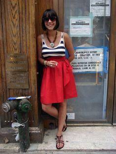 Girl in little Italia..lovely outfit