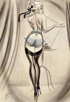 Best known for his comics, Bill Ward also drew many a pin-up. HD Wallpaper and background photos of Bill Ward Pin-Up for fans of Pin Up Girls images. Pin Up Vintage, Pop Art Vintage, Vintage Glamour, Vintage Stuff, Vintage Beauty, Retro Vintage, Vintage Fashion, Bill Ward, Pinup Art