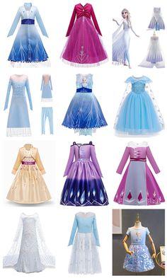 New Frozen Princess Dresses-Shoes- Swimwear Princess Elsa Dress, Frozen Elsa Dress, Princess Outfits, Princess Costumes, Kids Dress Up, Dresses Kids Girl, Cute Dresses, Elsa Halloween Costume, Disney Princess Toys