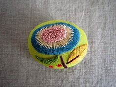 I perhaps owe having become a painter to flowers. ~ Claude Monet ~  Embroidery Found on iichi.com