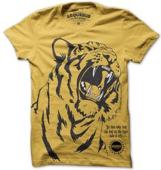 Let him who tied the bell on the Tiger take if off. Meaning translates to: Who ever started the conflict should end it. $24