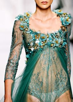 """the-fashionhighway: """"Abed Mahfouz Haute Couture Fall-Winter 2013 """" Couture Fashion, Runway Fashion, High Fashion, Womens Fashion, Couture Details, Fashion Details, Fashion Ideas, Abed Mahfouz, Elie Saab Couture"""