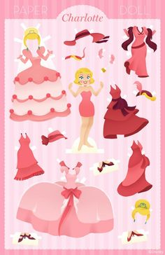 Paper Doll: Charlotte | Disney Style