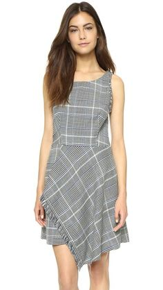 0afca835962 3.1 Phillip Lim Fringed Uneven Hem Dress Online Fashion Stores