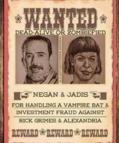 The Walking Dead #Negan and #Jadis (aka La Mas Puta!) #twd