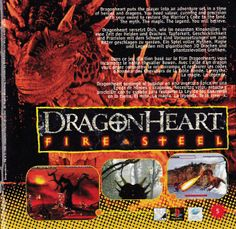 Promo for DragonHeart: Fire & Steel for Playstation and Sega Saturn Sega Saturn, Playstation, Gaming, Fire, Ads, Steel, Retro, Movie Posters, Videogames
