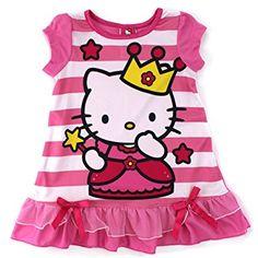 7b106eaf94 Sanrio Princess Hello Kitty Girls Nightgown Pajamas (Toddler Little Kid Big  Kid)
