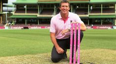 glenn mcgrath has used his position of being a proffesional cricket player and his status to try and get people to become aware of breast cancer and try and raise money for more resorces to help find a cure and treatments for the cancer and try impact the australian community with pink stumps day to help raise money for the mcgrath foundation