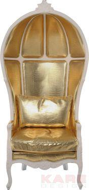 Sessel Roof Gold #gold #kare #design #wien #austria #Oesterreich # design