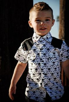 What a little cutie!! If I ever have a son....he's gonna be decked out like this. Haha!!!