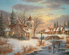 Winter at Stone-Bridge Manor Dennis Lewan