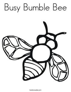 Busy Bumble Bee Coloring Page - Twisty Noodle