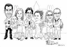 Albert Llort Design Studio - Caricatura Boda - Wedding Caricature