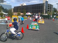 kids bike skills obstacle course - Google Search