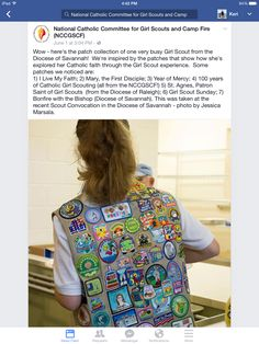 Courtney Anderson Girl Scout Patches, Catholic Medals, Girl Scouts, Tree Branches, Savannah Chat, Art Pieces, Collection, Tops, Women