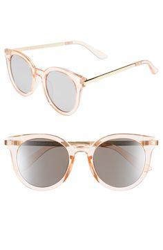 peach mirrored round sunglasses