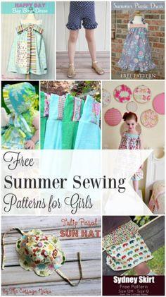 Free Summer Sewing Patterns & Tutorials