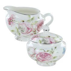 porcelain creamer and sugar sets | Home > Beau Rose Bone China - Sugar and Creamer Set