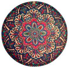 Colored Pencil: no. Mandala Design, Mandala Art, Circle Art, Illustration Art, Art Illustrations, Colouring Techniques, Mandala Coloring, Simple Shapes, Neon Colors