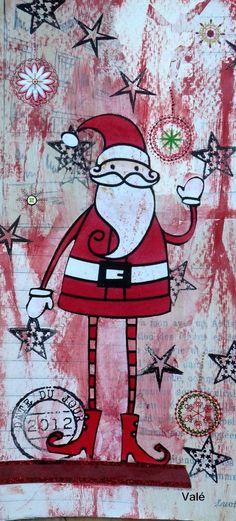 Rien de mieux que le père Noël pour vous souhaiter un JOYEUX NOEL! C'est mon filleul Elouan qui l'a reçu sur son paquet cadeau en guise d'étiquette.