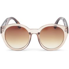 Steve Madden Women's S5202 Sunglasses ($29) ❤ liked on Polyvore featuring accessories, eyewear, sunglasses, nude, clear eyewear, nose pads glasses, steve madden glasses, steve madden and metal frame glasses