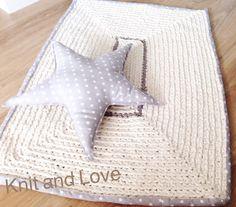 XXL #crochet  ALFOMBRA DE TRAPILLO RECTANGULAR CON RIBETE DE TELA / Knit and Love